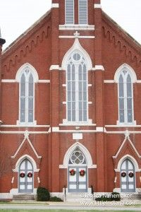 Salem United #Church of Christ in Huntingburg, #Indiana: Scene for Hard Rain -- Remember that movie? Yeah, a scene was shot right here!