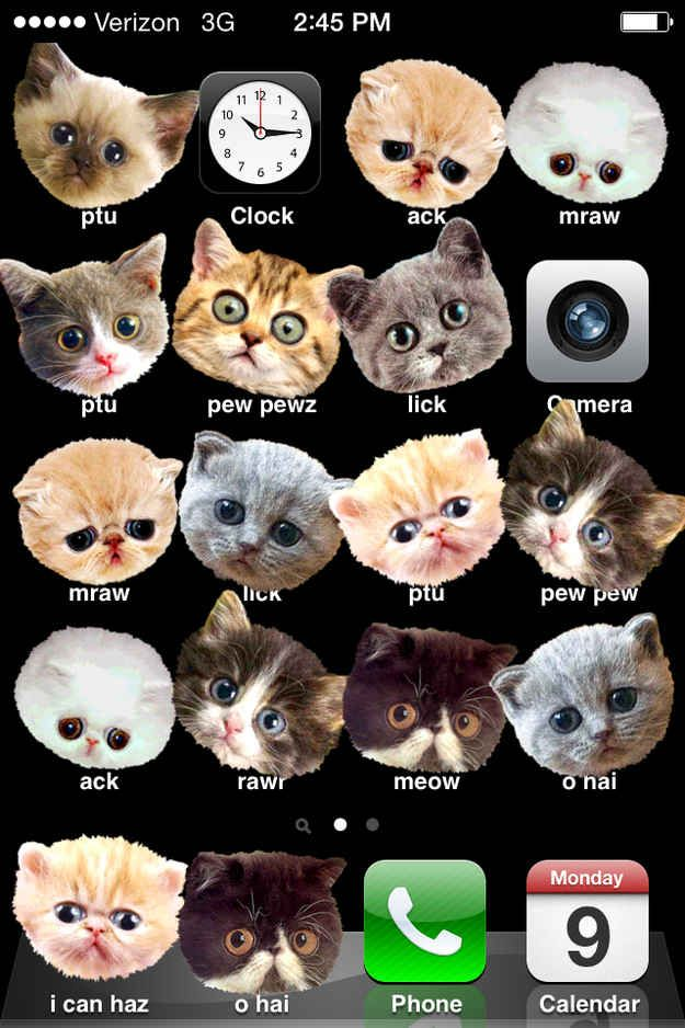 Turn their apps into cats. | 17 Diabolical Tech Pranks For April Fools' Day