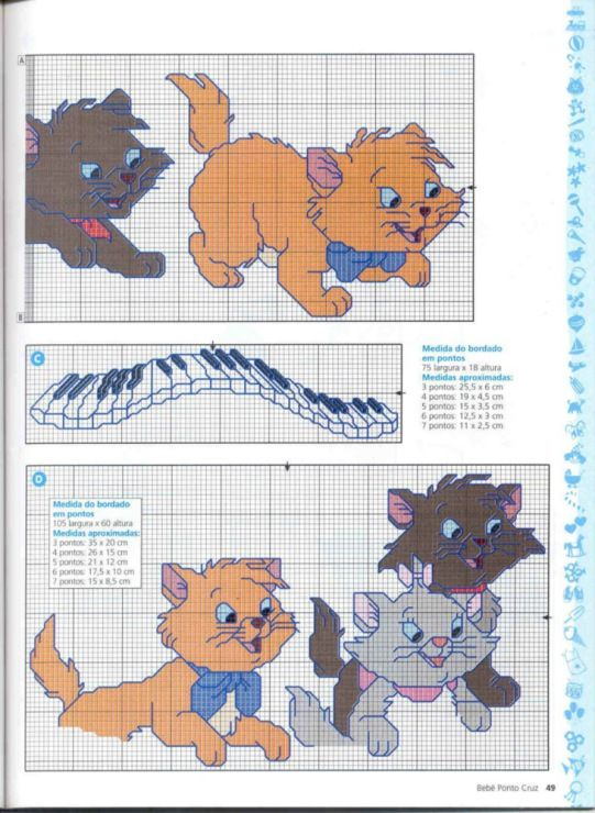 17 best images about disney the aristocats cross stitch on for Immagini disney punto croce