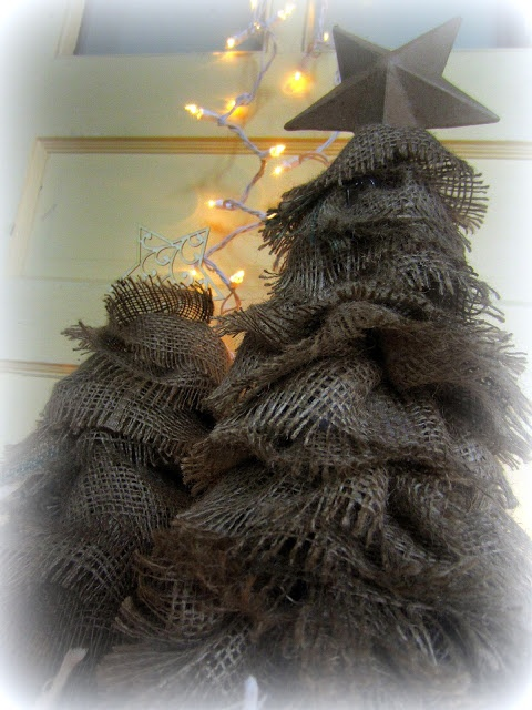 Down to Earth Style: Crafting Tutorials  Rustic Burlap Trees