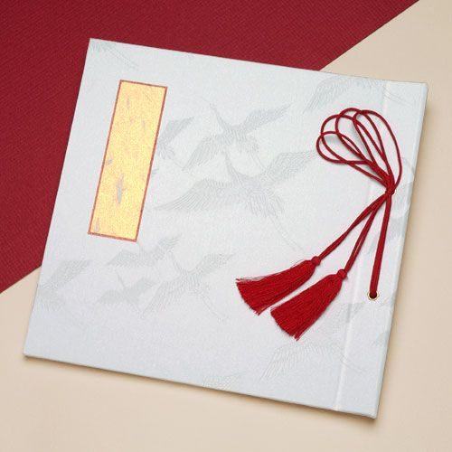 和婚・婚礼・結婚式[ウエディング]ゲストブック 和風芳名帳(白鶴)【楽天市場】