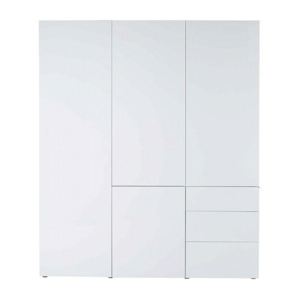 Perouse Armoire 4 portes blanche laquée Habitat - Soldes Armoire Habitat