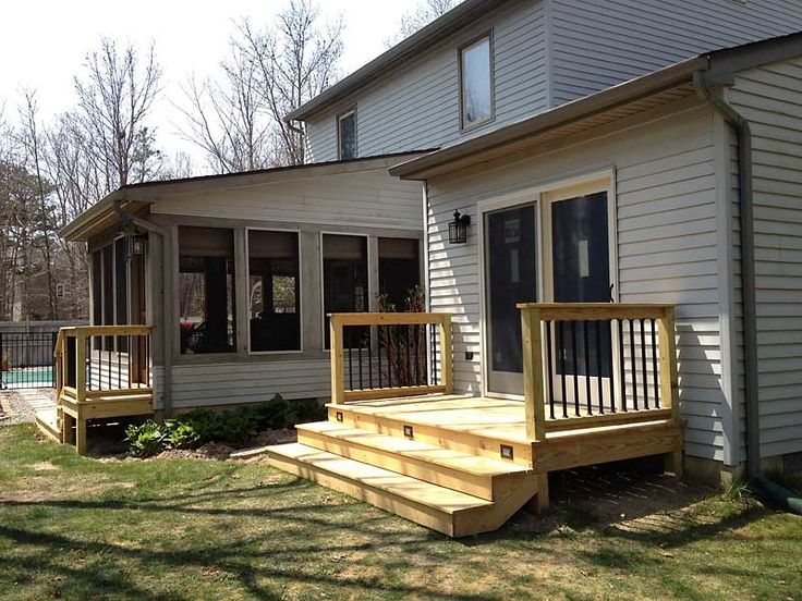 13 best images about back yard on pinterest small decks for Front yard deck designs