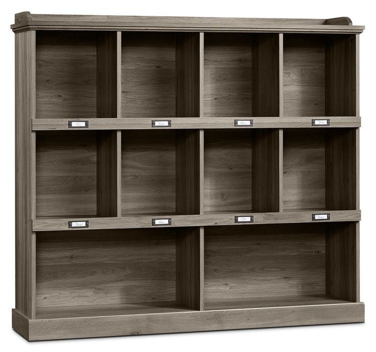 Home Office Furniture - Barrister Lane Wide Bookcase – Salt Oak