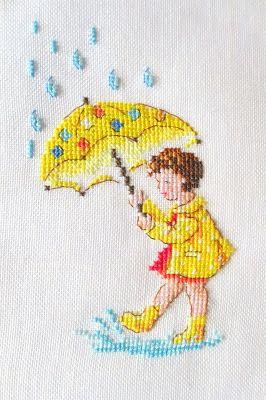 Moja pasja, mój świat: Le parapluie de Perrine - Mon imagier rétro - Véronique Enginger