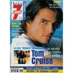 """Tom Cruise, le choc """"Mission : Impossible 2"""" : les secrets d'un homme trop parfait, dans Télé 7 jours (n°2095) du 22/07/2000 [couverture et article mis en vente par Presse-Mémoire]"""
