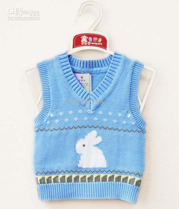 Free knitting pattern baby sweater vest: