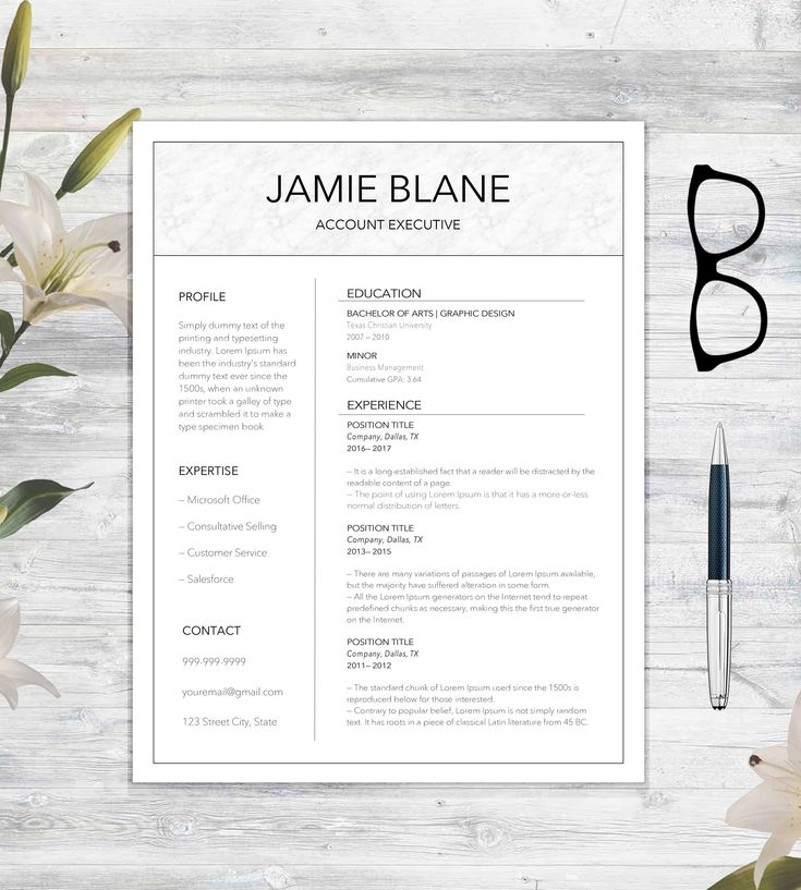 "Check Out The ""Jamie Blane"" Resume Template!  http://etsy.me/2CXmQ3v #resume"