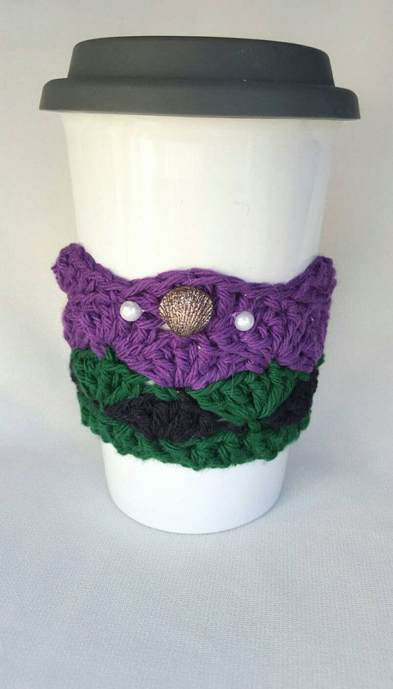 The little mermaid inspired cup cozy by MagicalAdornments on Etsy