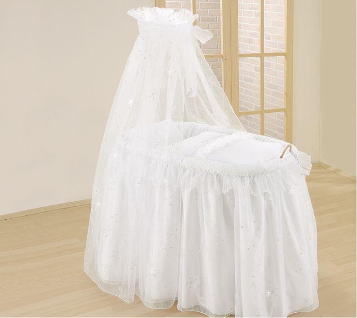 The Baby Cot Shop - Simone Wicker Drape Crib, £576.00 (http://www.thebabycotshop.com/handcrafted-simone-drape-crib/)