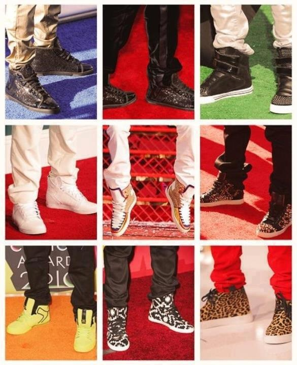 justin biebers shoes are just sooo unique and adorable...just like him!