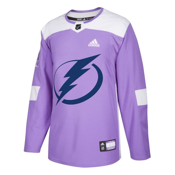 adidas Adizero Authentic Tampa Bay Lightning Hockey Fights Cancer Jersey - Tampa Bay Sports