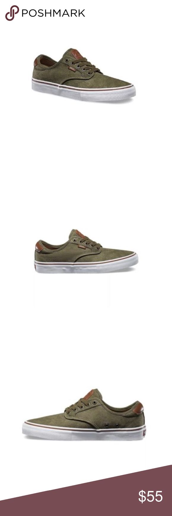 Vans Chima Ferguson Pro Twill Olive Green Shoes Vans Chima Ferguson Pro Twill Olive Green with Ultracush  Size Men 10.5 Brand new in box Box is ripped and has been taped no damage to shoes Vans Shoes Athletic Shoes