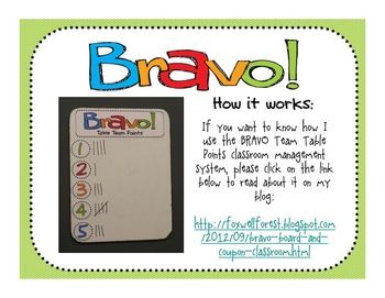 FREEBIE Need a new Classroom Management System for the End of the Year? Bravo Board and Reward Coupons