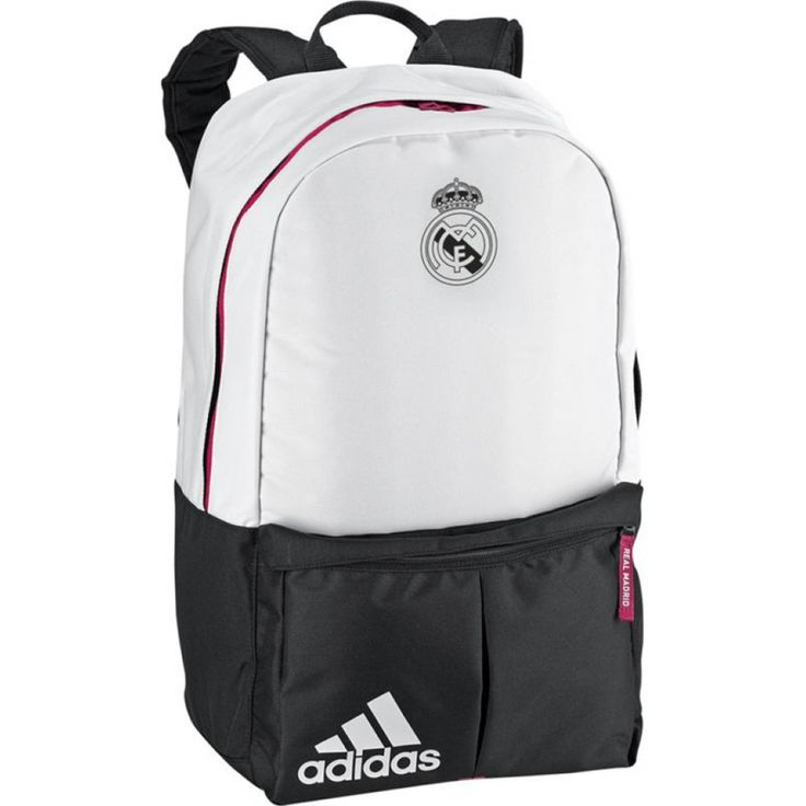 The Real Madrid Adidas Backpack is a good size for carrying your sports kit or school or work items and would be a great backpack for any Real Madrid supporter to own, more Real Madrid clothing and accessories can be found on our website. http://www.soccerbox.com/86019