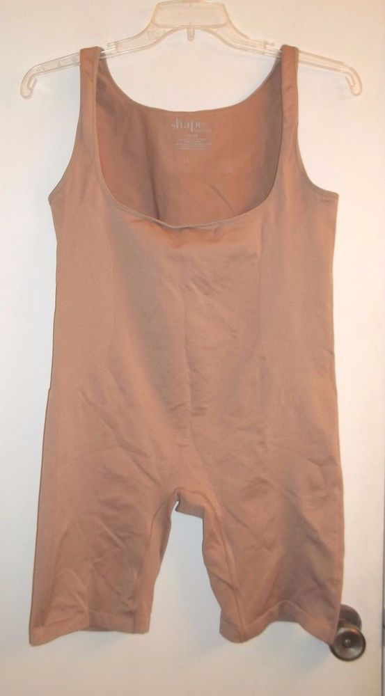 Lane Bryant 26/28 Beige One Piece Shaper by Cacique Open Bust Bodysuit  #LaneBryantCacique #BodySuits