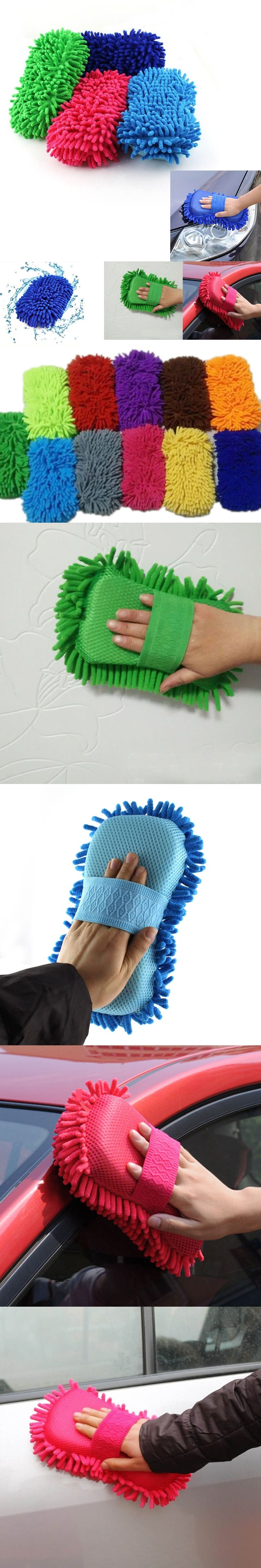 Hand Soft Towel Microfiber Chenille Anthozoan Washing Gloves Coral Fleece Sponge Car Washer 2017ing