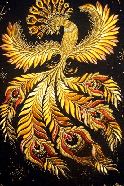 #PANDORAloves this firebird embroidery! According to ancient Egyptian mythology the phoenix is seen as a symbol of rebirth, immortality and transformation.