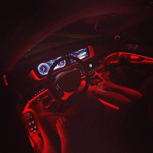 you can choose between 7 ambient light colors in the new mercedes s class here is red cars. Black Bedroom Furniture Sets. Home Design Ideas