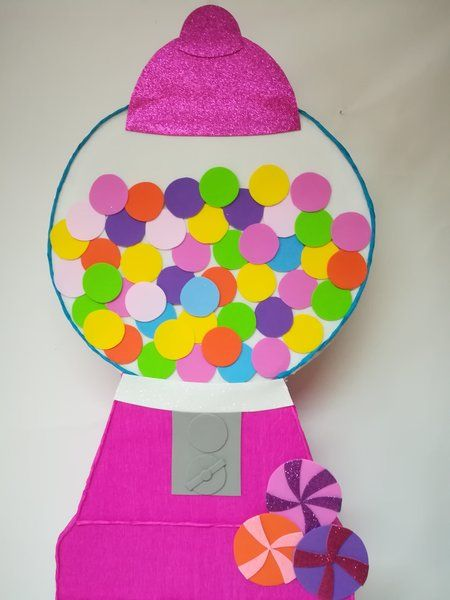 Gumball machine pinata- candyland birthday Party decoration- sweet Party- girl piñata- candy Party- custom Party- Personalized piñata