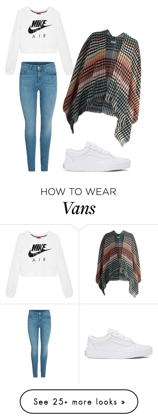 """Winter to Spring Plaid"" by kduro on Polyvore featuring NIKE, Vans and Maje"
