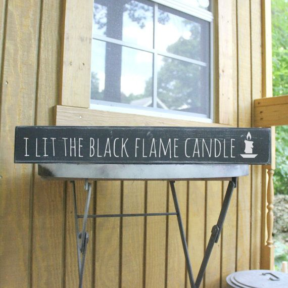 hocus pocus wood sign halloween wood sign i lit the black flame candle wood