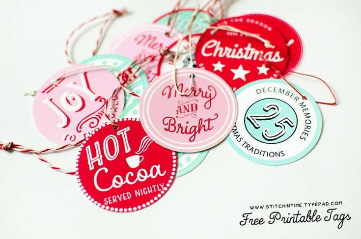 Printable tags from a Stitch in Time. This is one of my favorite blogs.