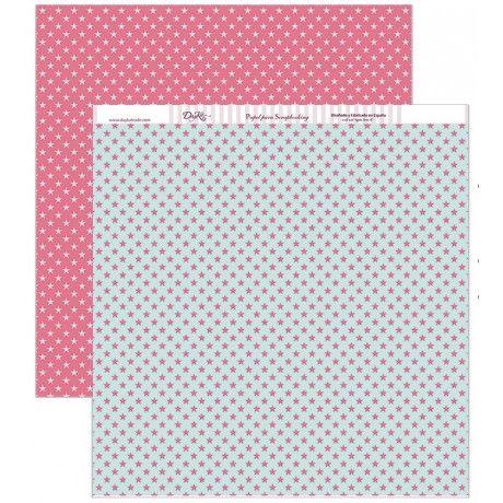 Papel scrap con estampado de estrellas rosas y azules #scrap #conideade #manualidades