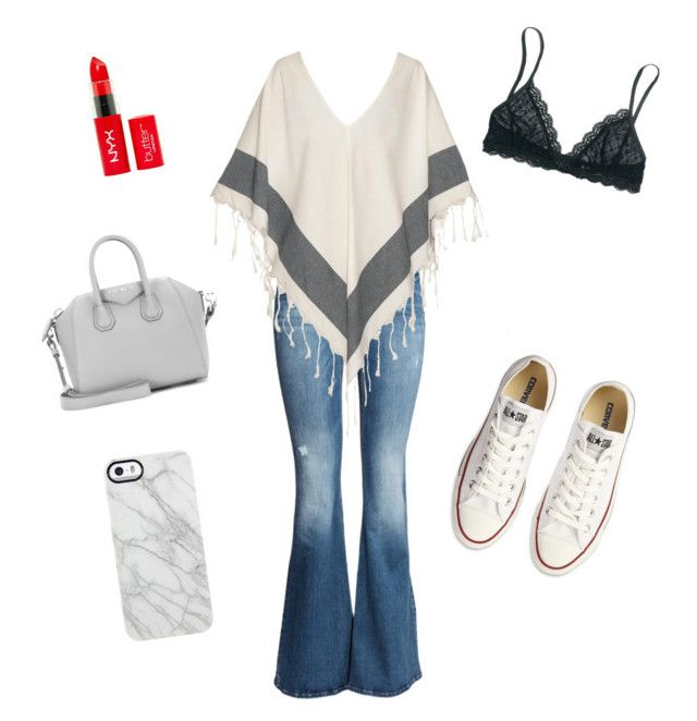 """""""The white sneakers▫️"""" by oliviiiias on Polyvore featuring H&M, Su Paris, Givenchy, Madewell, Converse and Uncommon"""