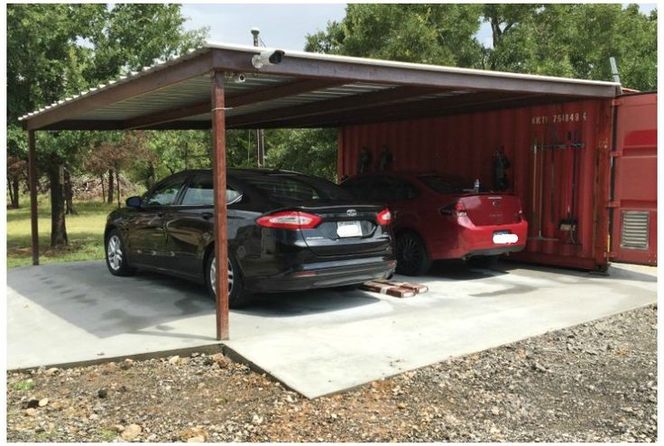 Shipping Container Carport And Storage Idea Landscaping