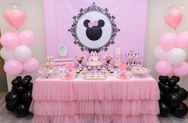 Minnie Mouse Birthday Party Ideas   Photo 8 of 17