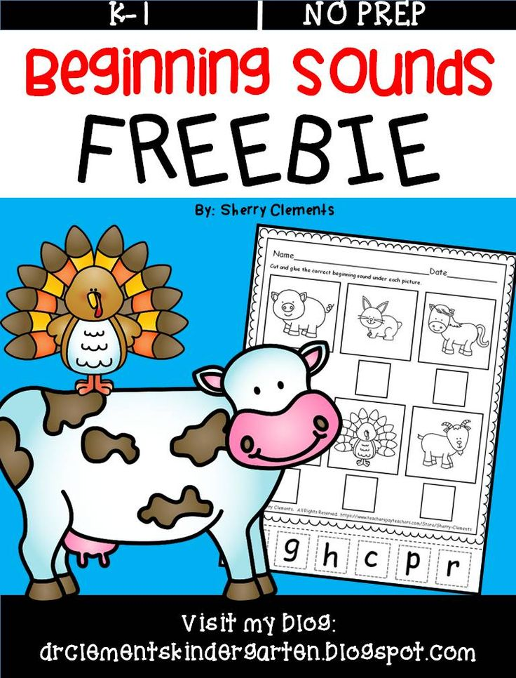 FREEBIE - Beginning Sounds (Farm Animals) Students cut and glue the correct beginning sound for each farm animal picture. literacy center - RTI - preschool, kindergarten - phonics - $