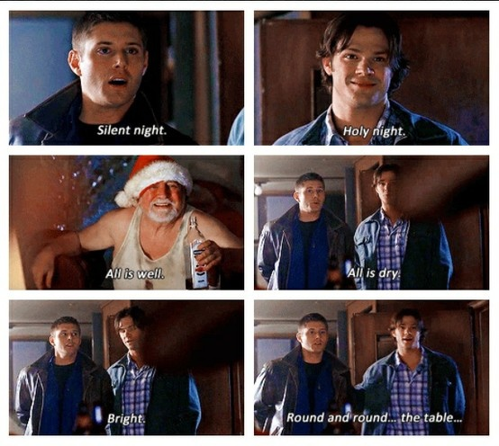 A Very Supernatural Christmas. The babies didn't even learn Christmas songs.