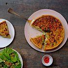 Quiche met zalm, prei en champignons - recept - okoko recepten