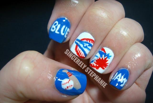 blue-jays-baseball-nail-art-VERY COOL!!!!