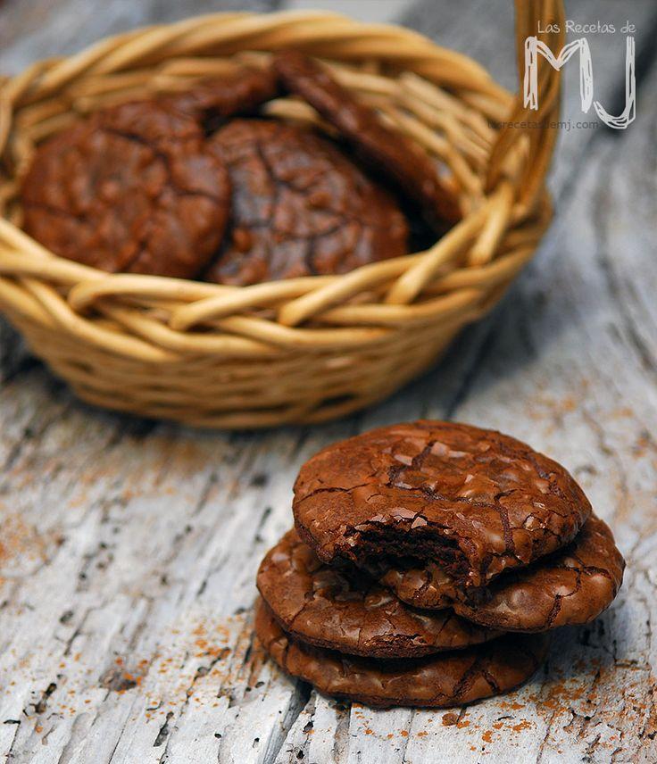 Cookie Brownies / Galletas de chocolate tipo brownies