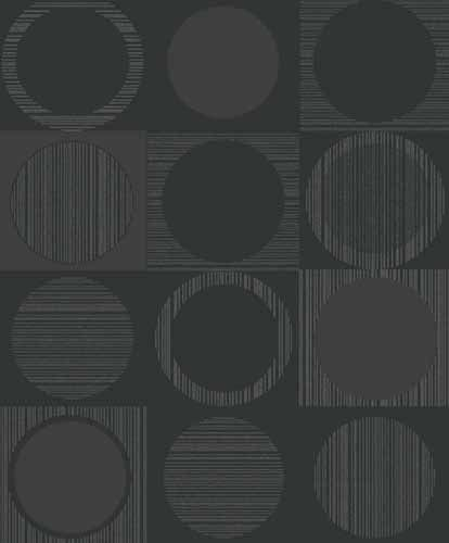 Fräck tapet med geometriskt mönster från kollektionen Kvadrat 17072. Klicka för att se fler inspirerande tapeter för ditt hem!