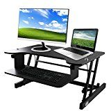 """Standing Desk, OULII Sit Stand Desk 32 x 20.5 """" Height Adjustable Pneumatic Standing Workstation with Easy... This may be the perfect workstation. Experts agree: sitting at a desk all day is https://thehomeofficesupplies.com/standing-desk-oulii-sit-stand-desk-32-x-20-5-height-adjustable-pneumatic-standing-workstation-with-easy-lift/"""