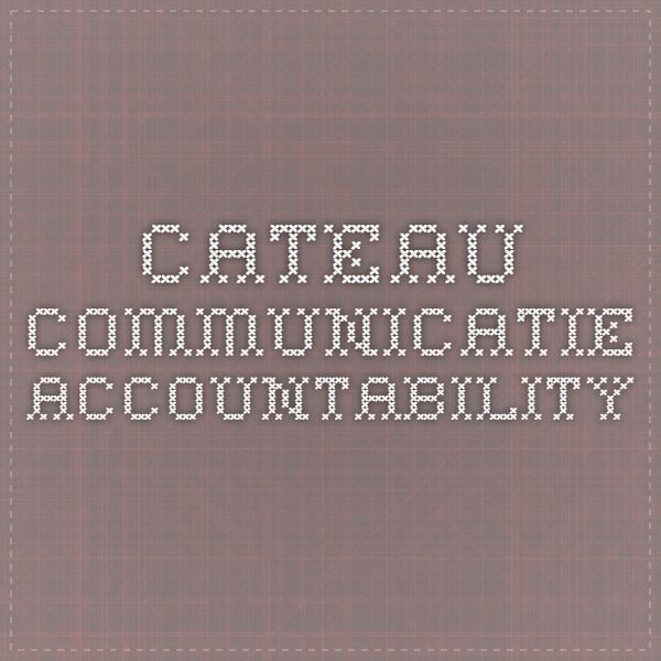 Cateau Communicatie - Accountability