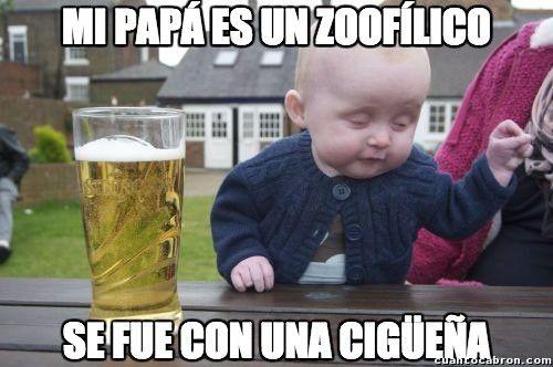 Bebe_borracho - El bebé no sabe qué dice...