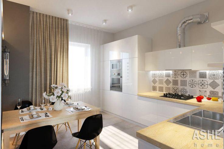 Cucina eclettica di Студия авторского дизайна ASHE Home