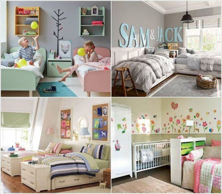 M s de 25 ideas incre bles sobre habitaciones compartidas - Habitaciones infantiles compartidas ...