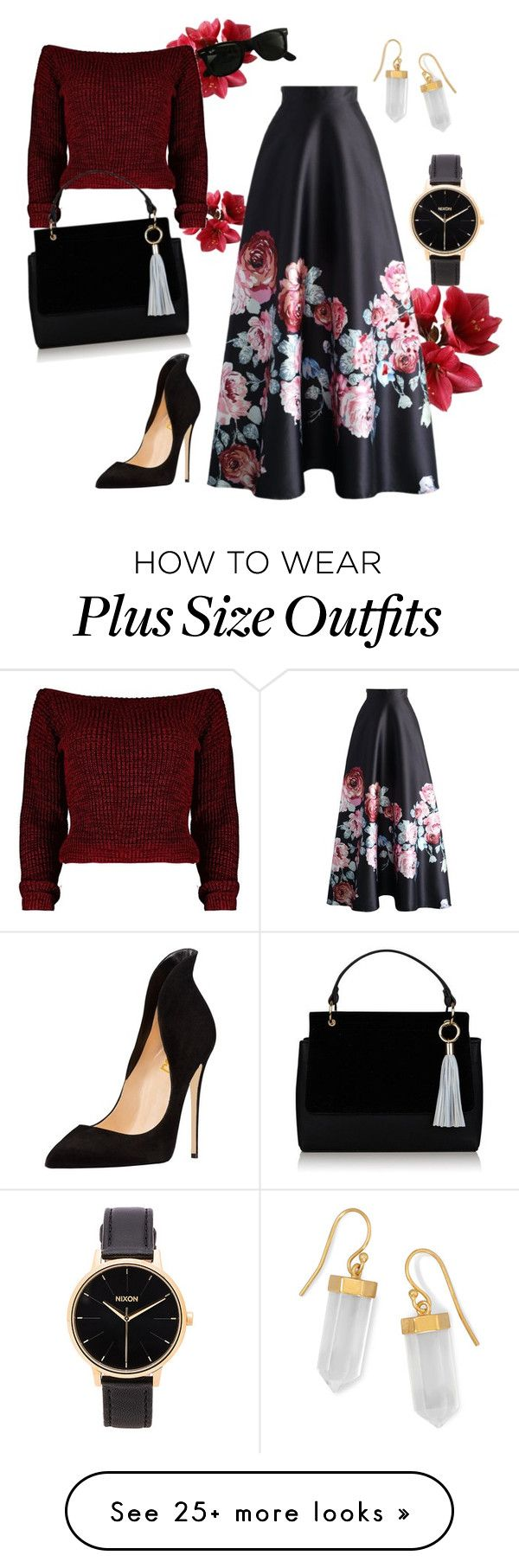 """Outing"" by eternal-in-summer on Polyvore featuring Chicwish, Ray-Ban, BillyTheTree, Nixon and maxishirt"