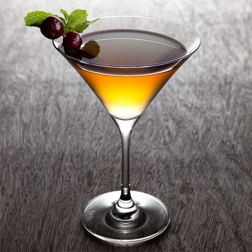 Kentucky Flyer...•2 oz Rye whiskey   •.75 oz Luxardo Maraschino Liqueur   •.5 oz Fresh lemon juice   •1 to 2 Fresh mint leaves     Garnish: Brandied cherries and mint leaf