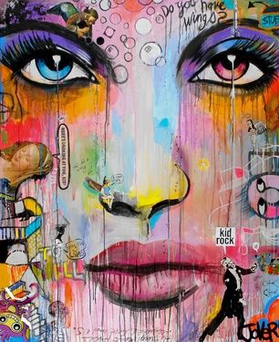 "Saatchi Online Artist Loui Jover; Painting, ""wings (canvas)"" #art"
