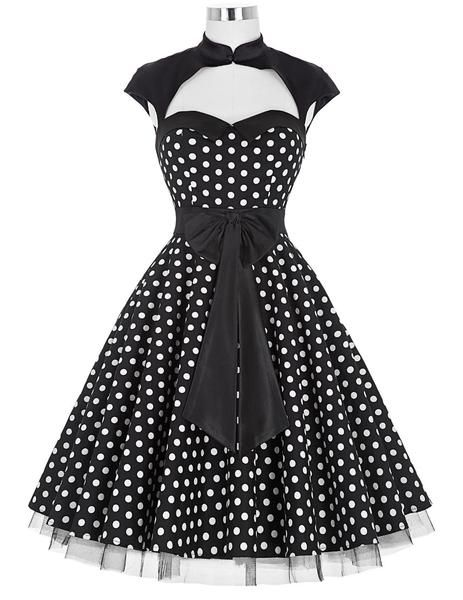 Polka Dots Dresses 2016 New Summer Style Women Rockabilly Dress High Neck Swing  Audrey Hepburn Party Vintage dresses