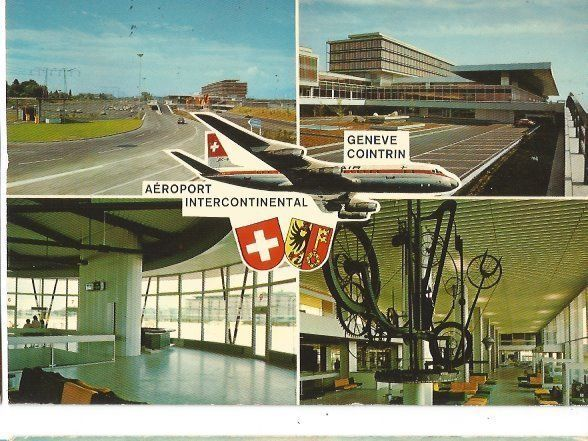 CP AVION AEROPORT GENEVE COINTRIN DOUGLAS DC 8 SWISSAIR