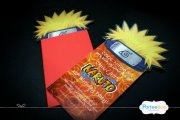 Invitation Cards for a Naruto themed birthday party, designed by ParteeBoo