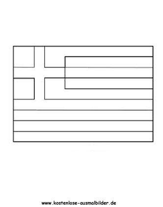 ausmalbild fahne - flagge griechenland zum kostenlosen ausdrucken und ausmalen. ausmalbilder