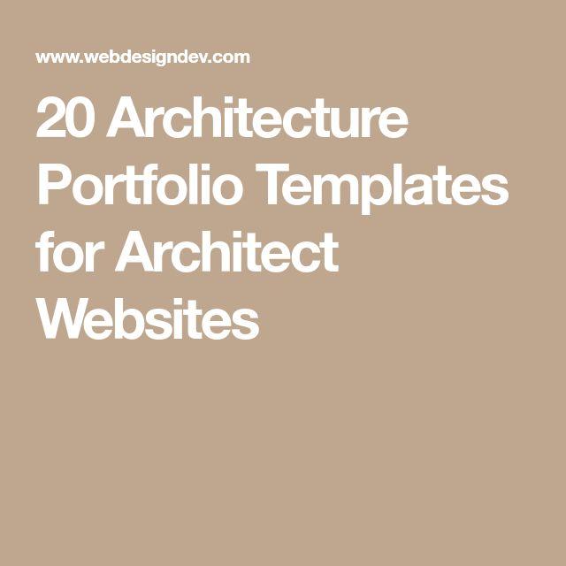 The 25+ best Architecture portfolio template ideas on Pinterest - landscape architect sample resume